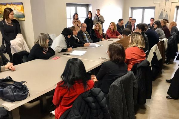 Carcassonne - réunion de crise à la maison des avocats - 6 janvier 2020.