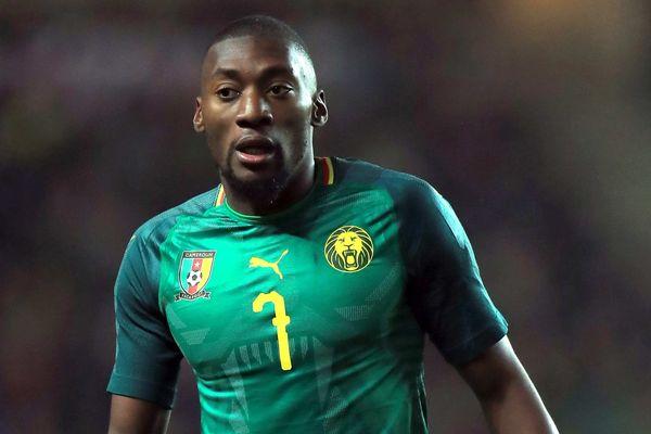 Max Toko Ekambi sous le maillot des Lions Indomptables du Cameroun en 2018