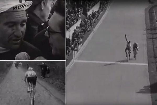 Des images de Paris-Roubaix 1968