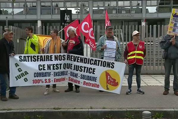 À Lons-le-Saunier, les manifestants se sont rassemblés ce samedi 15 juin.