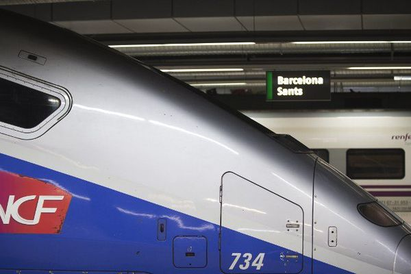 Le TGV à Barcelone