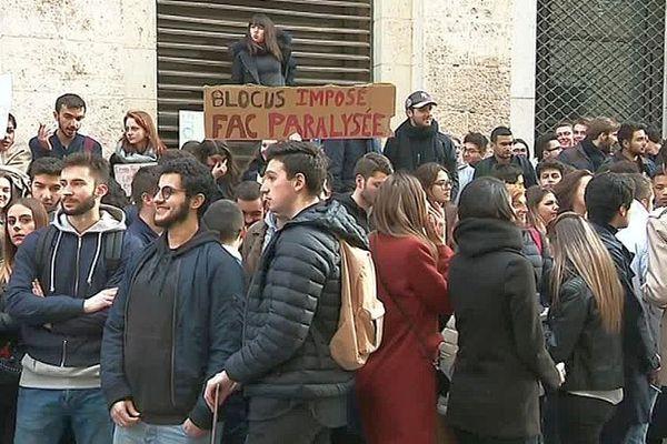 Montpellier - manifestation des étudiants en Droit - 26 mars 2018.