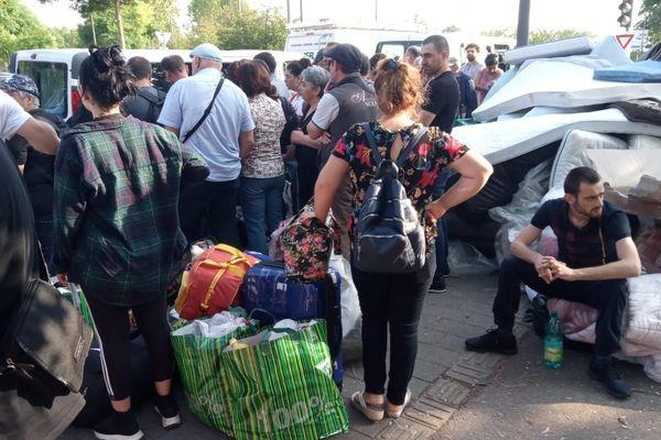 Le campement rue des Canonniers à Strasbourg évacué le 27 août