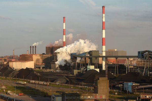 Le site d'ArcelorMittal sur le port de Dunkerque.