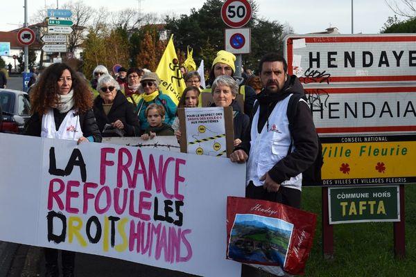Une manifestation à Hendaye, ce mercredi 4 décembre, a eu lieu pour défendre les droits des migrants.
