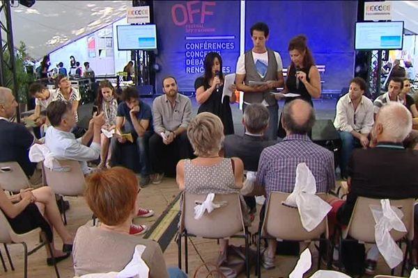 Des textes ont été lus dans le cadre du Festival OFF d'Avignon, qui se tient jusqu'au 30 juillet 2017.