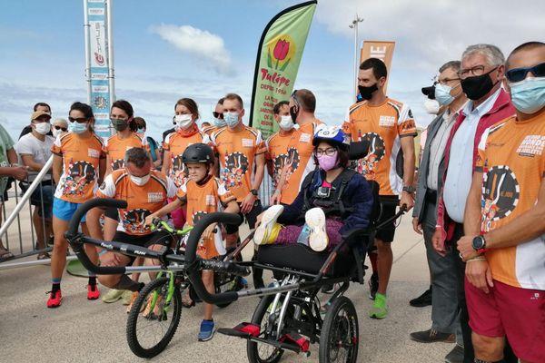 Un nouveau record mondial de 264 km en joélette enregistré à Berck