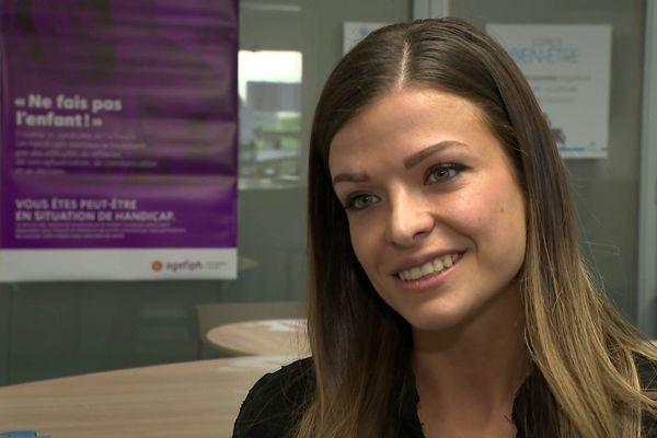 Alexandra Guilleron, référente handicap dans l'entreprise de services Fym Action, à Caudan (56).