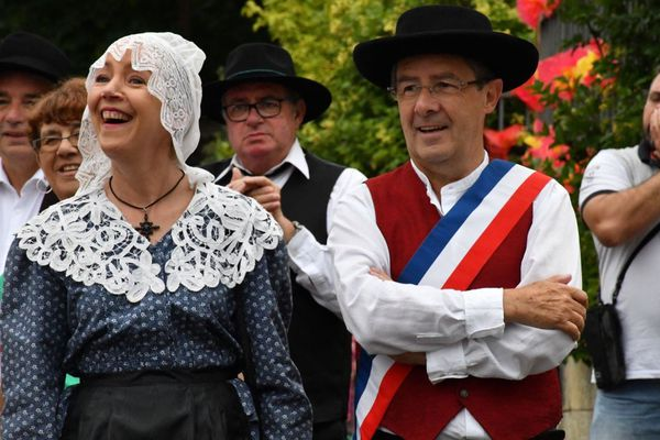 Le maire de Périgueux, Antoine Audi et Marie-Hélène Boras, conseillère municipale.