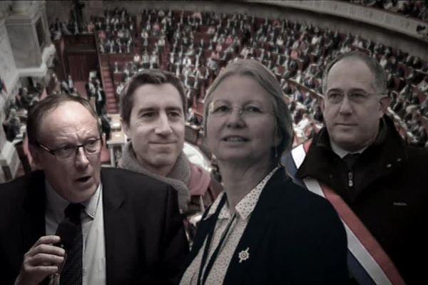 Jean-Louis Bricout, François Ruffin, Agnès Thill et Pierre Vatin
