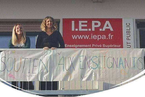 L'Institut Européen de Psychologie Appliquée – I.E.P.A. à Saint Laurent du Var mobilisé aussi.