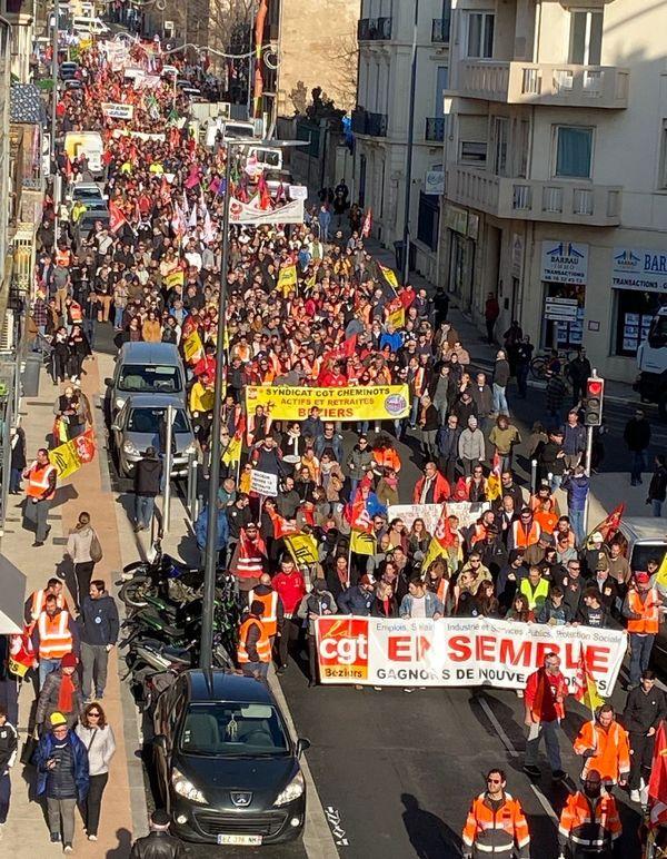 Béziers (Hérault) - manifestation contre le réforme des retraites - 9 janvier 2020.