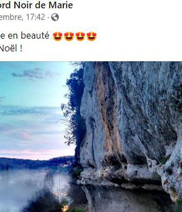 Un post facebook publié par Marie Calonne après une visite à la veille de Noël