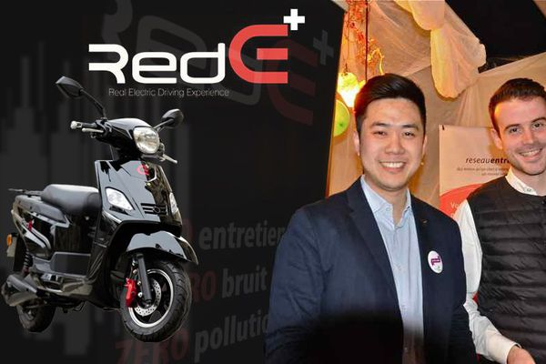 Etienne et Valentin ont lancé Red E un scooter électrique pour les professionnels de la livraison