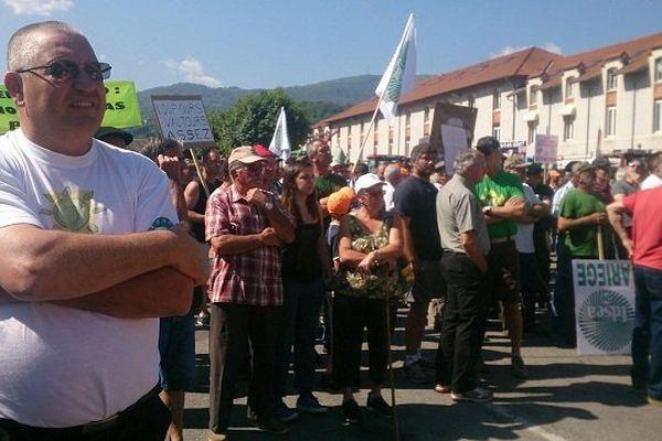 Plus de 2 000 personnes manifestent dans les rues de Foix contre les grands prédateurs.