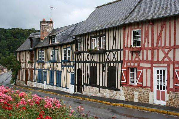 Dans le Calvados, jour de pluie en Pays d'Auge...