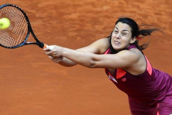 Marion Bartoli, début mai, au tournoi WTA de Madrid (Espagne). L'Auvergnate a été éliminée au troisième tour par Makarova.