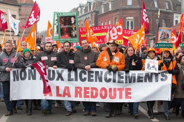 Les salariés de La Redoute manifestaient déjà le 13 décembre contre les licenciements.
