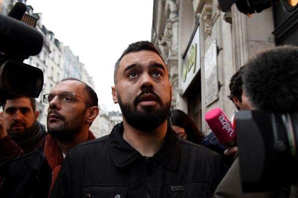 Eric Drouet à la sortie de sa garde à vue le 3 janvier 2019 à Paris.