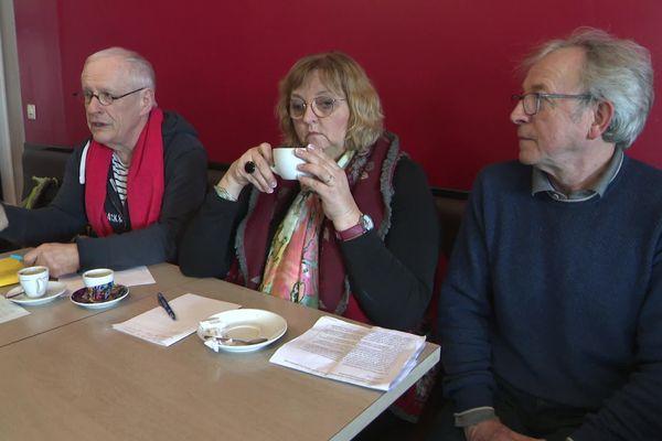 Marie-Andrée Queste, Pascal Chapelle et Yves Jambu, d'Europe Ecologie Les Verts