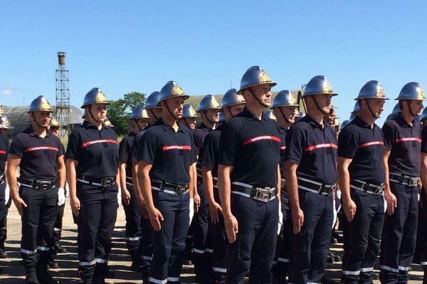 Des pompiers de Bourgogne-Franche-Comté s'entraînent à Dijon : ils défileront sur les Champs-Elysées le 14 juillet 2017