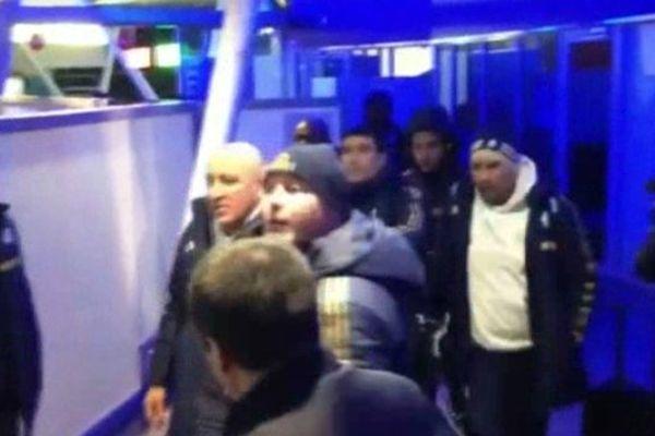 Arrivée des joueurs marseillais à l'aéroport de Lille