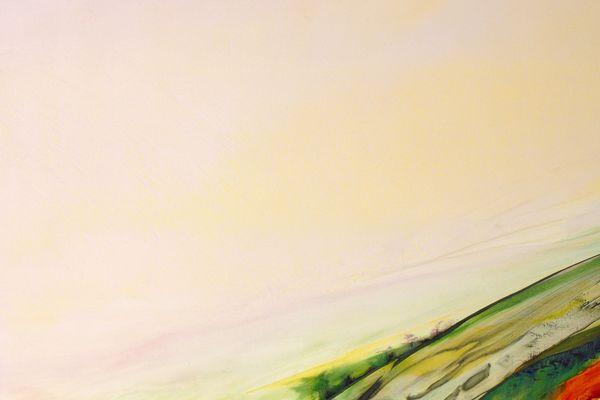 Sans titre, 1990-1991, huile sur toile, Olivier Debré, 380 x 915 cm, Tours, cccod