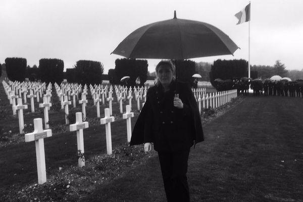Marine Le Pen à la nécropole de Douaumont