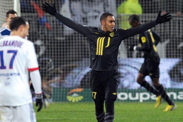 La joie de Payet ce dimanche soir au stade Gerland à Lyon.