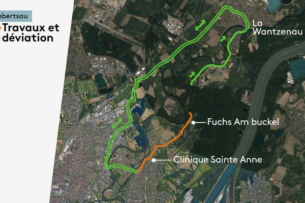 La portion de la route bloquée fait un peu plus de deux kilomètres.