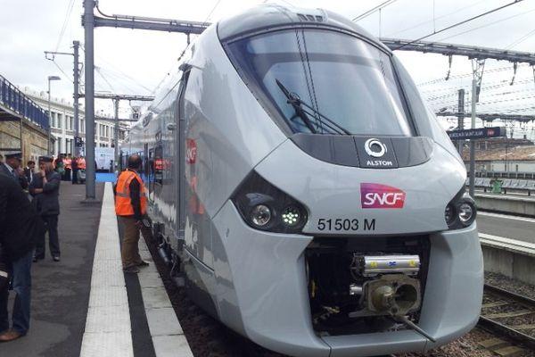 Le nouveau TER Régiolis en Gare de Bordeaux-Saint Jean (illustration)