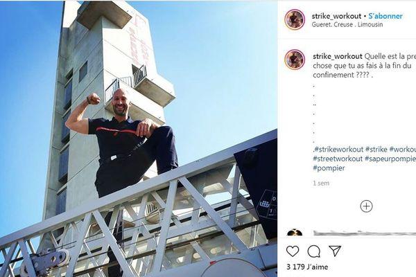Sur les réseaux sociaux, Benoît Coulaud, sapeur-pompier, aime relever les défis !