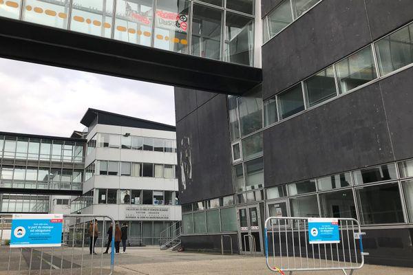 La fac de lettres, à Brest, le 4 décembre 2020