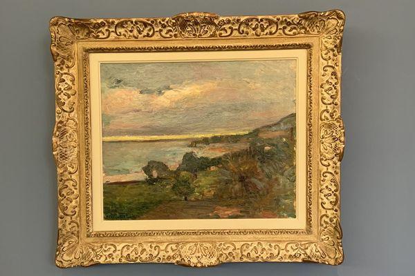 """La collectivité de Corse a présenté le tableau """"Paysage Corse-Le Scoud"""" signé Henri Matisse, jeudi 13 février, à Ajaccio."""