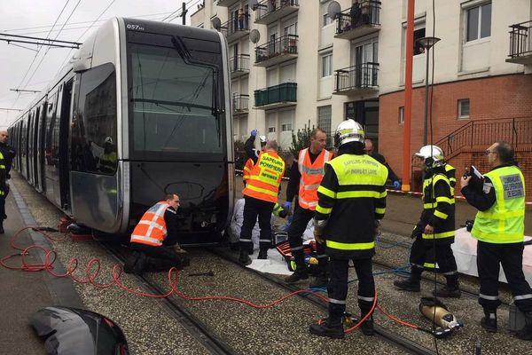 L'accident s'est produit dans le quartier de la Rabière, à Joué-lès-Tours.