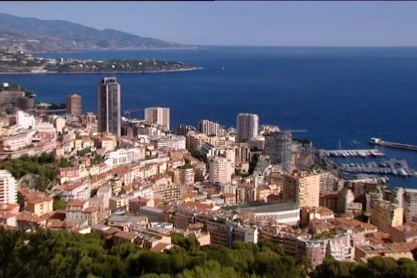 Une vue de la principauté de Monaco.