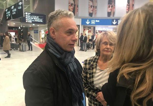 Laurent Fortin accueilli à l'aéroport de Roissy