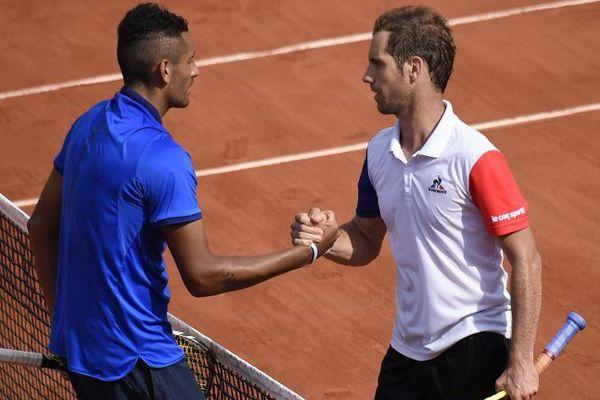 Gasquet et Kyrgios à Roland Garros le 27 mai 2016