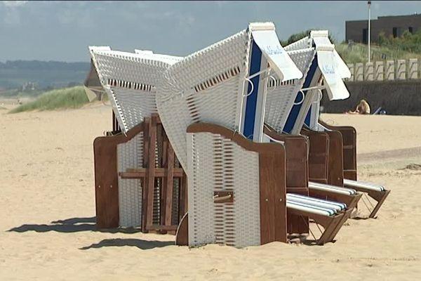 Les corbeilles de plage de Merville-Franceville sont à louer pour la 1/2 journée ou plus si affinité