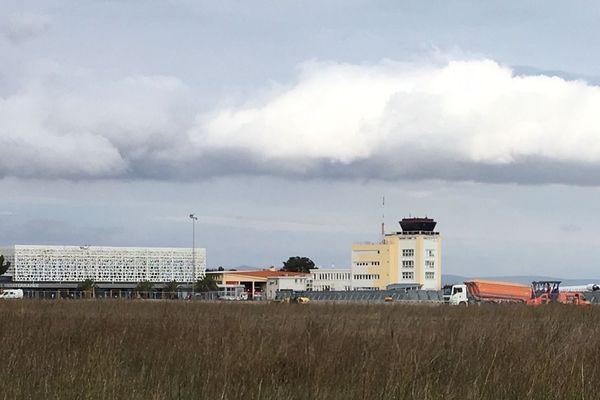 L'aéroport de Perpignan-Rivesaltes, dans les Pyrénées-Orientales.