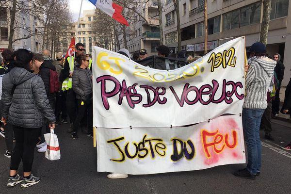 Montpellier - manifestation contre la réforme des retraites - 9 janvier 2020.