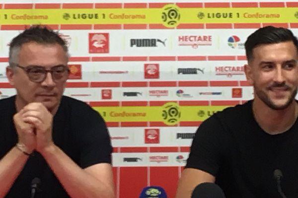 Pablo Martinez à droite, vient de signer pour trois ans au Nîmes Olympique
