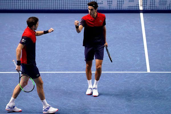 Pierre-Hugues Herbert and Nicolas Mahut lors de la finale des Masters à Londres