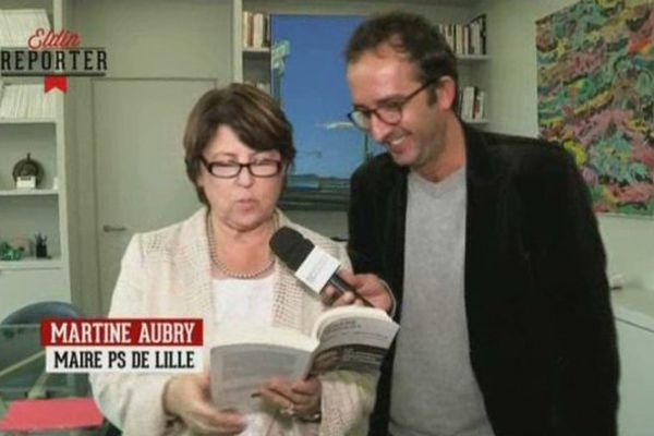 """Martine Aubry dans l'émission """"De Groodt une fois""""."""