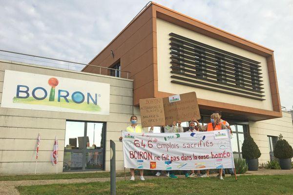 16 septembre 2020- Manifestation des salariés de Boiron à Isneauville (Seine-Maritime)