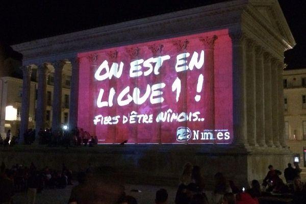 Nîmes olympique monte ne ligue 1. Les monuments de la ville en témoignent ...