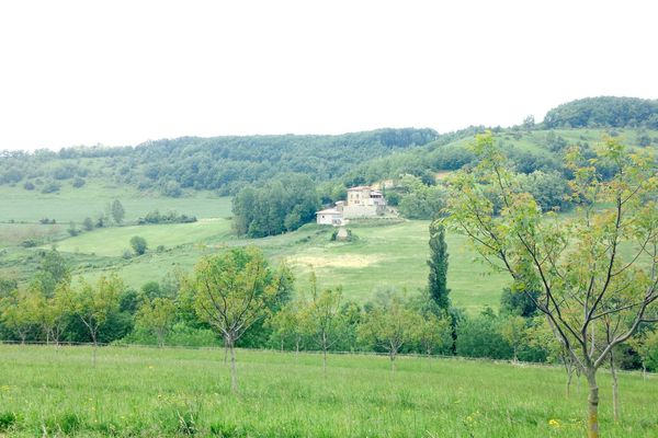 Un projet de poulailler, au milieu de ces collines de Miribel, dans la Drôme, crée la discorde.