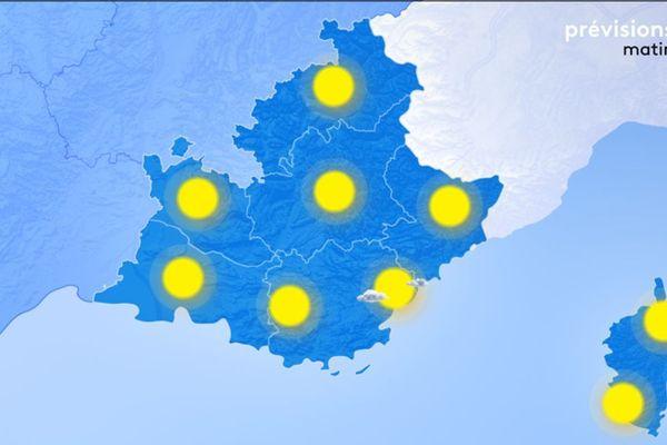 Lundi 6 janvier, le temps est sec et ensoleillé sur l'ensemble de notre région.