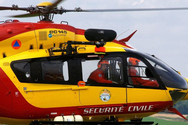 L'hélicoptère de la sécurité civile