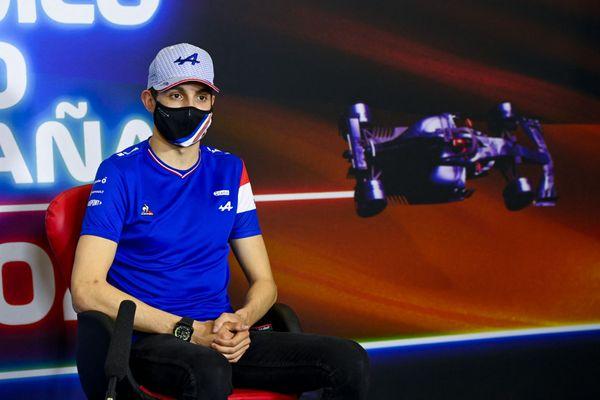 Le pilote de Formule 1 de l'écurie française Alpine Esteban Ocon le 6 mai 2021